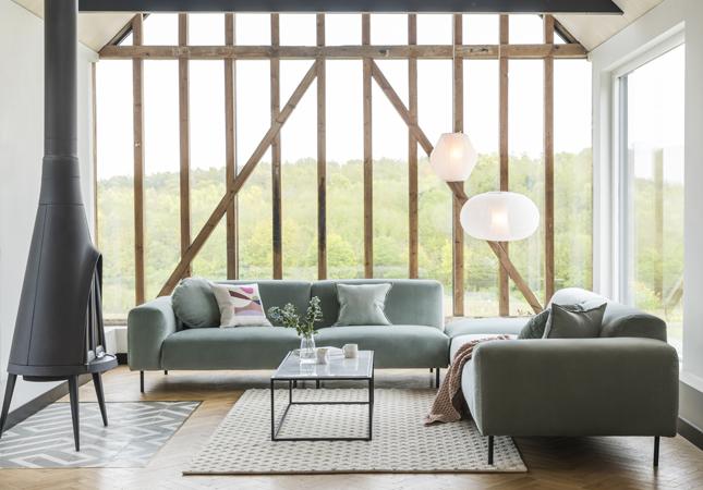 Luna Corner Sofa Living Room Idea