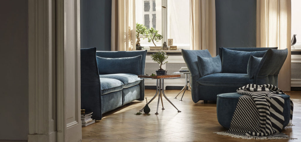 Mariposa Sofa and Armchair in a Parisian style living room | Image courtesy of Vitra