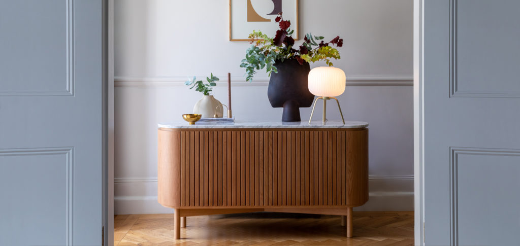 Modern French marble sideboard
