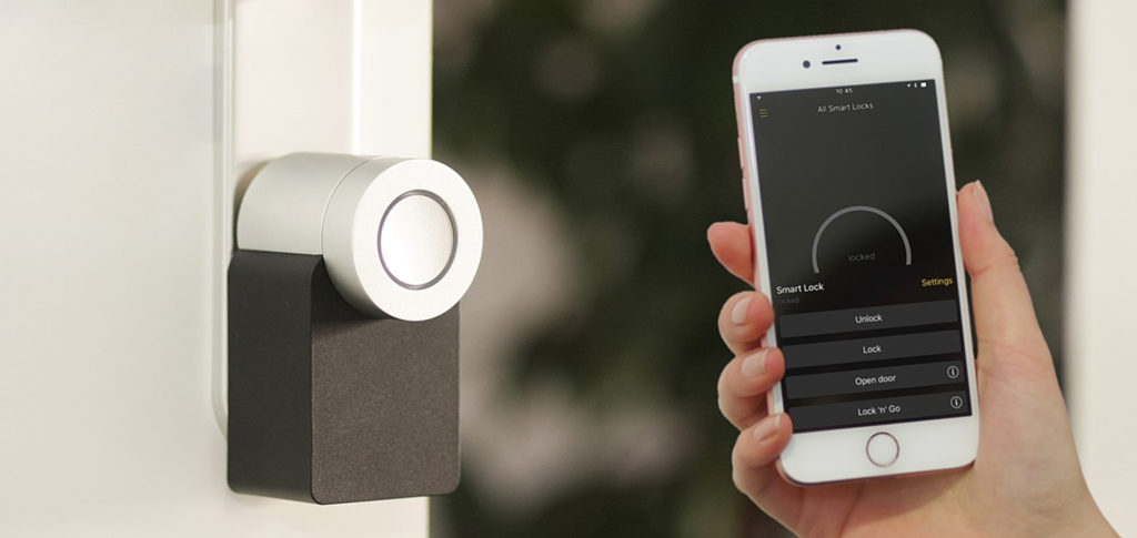 Smart technology at the front door | Image courtesy of Nuki