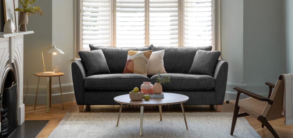Torino Grey Sofa Living Room Idea