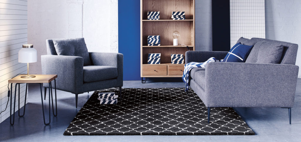 Trellis Rug in a living room