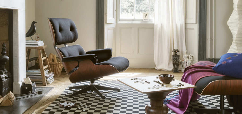 Twill Eames Lounge Chair in a Parisian apartment | Image courtesy of Vitra