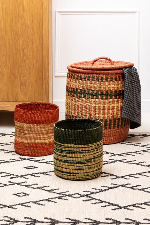 Handwoven storage basket by AAKS