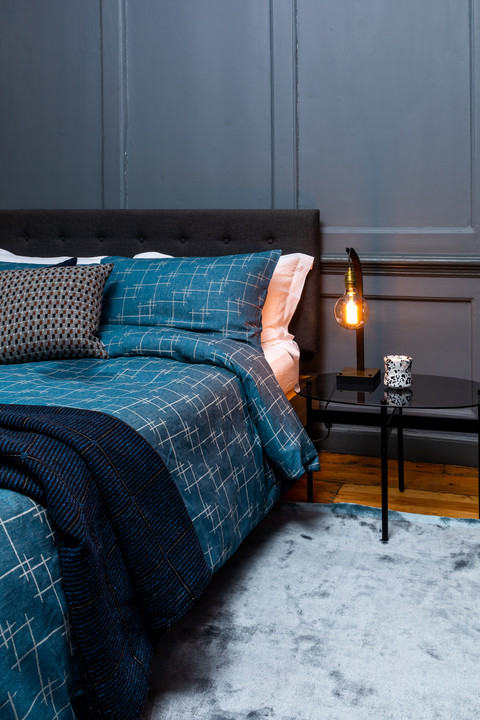 Sgraffito bed linen by Eleanor Pritchard