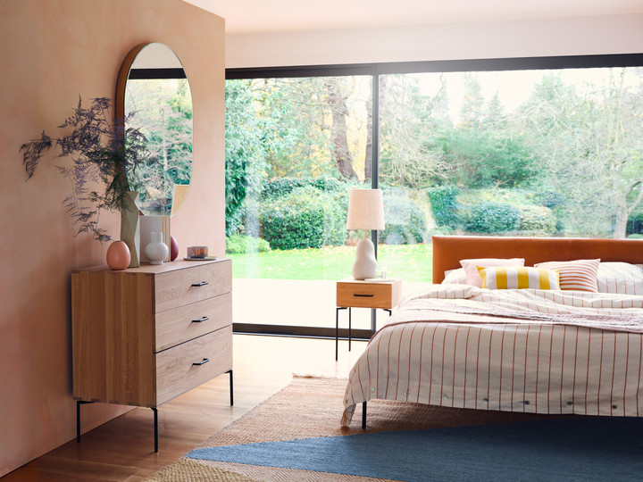 Marano Drawer Chest, Bedside Table, Matera Bed