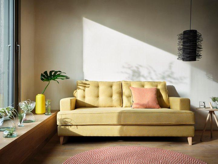 Mistral sofa in Tejo Recycled Ochre