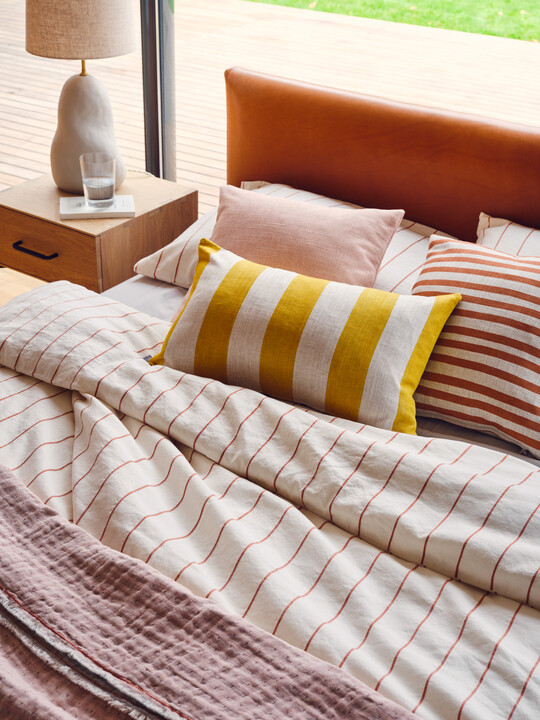 Stripe Duvet Cover, Cabana Stripe Cushion and Candy Stripe Cushion