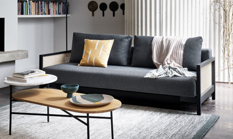 Cane Sofa Bed Featured For Multipurpose Spaces