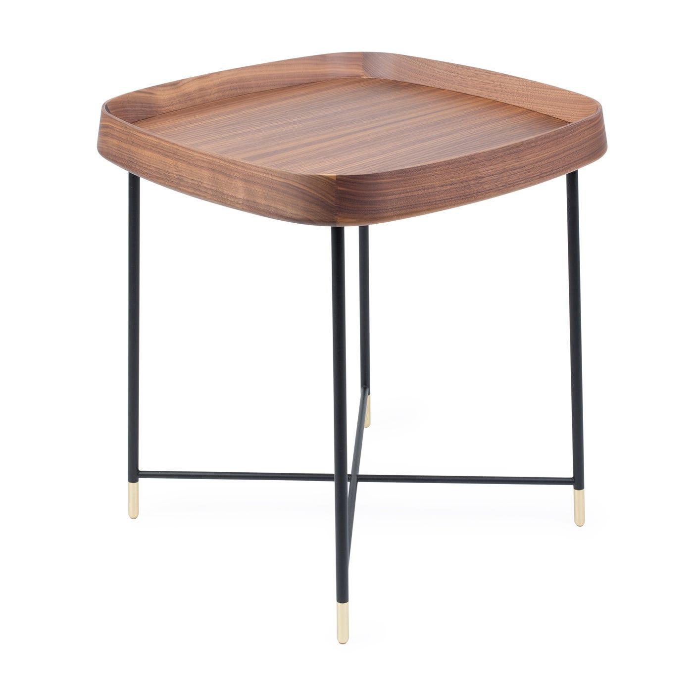 Porada Fritz 4 Square Side Table Walnut