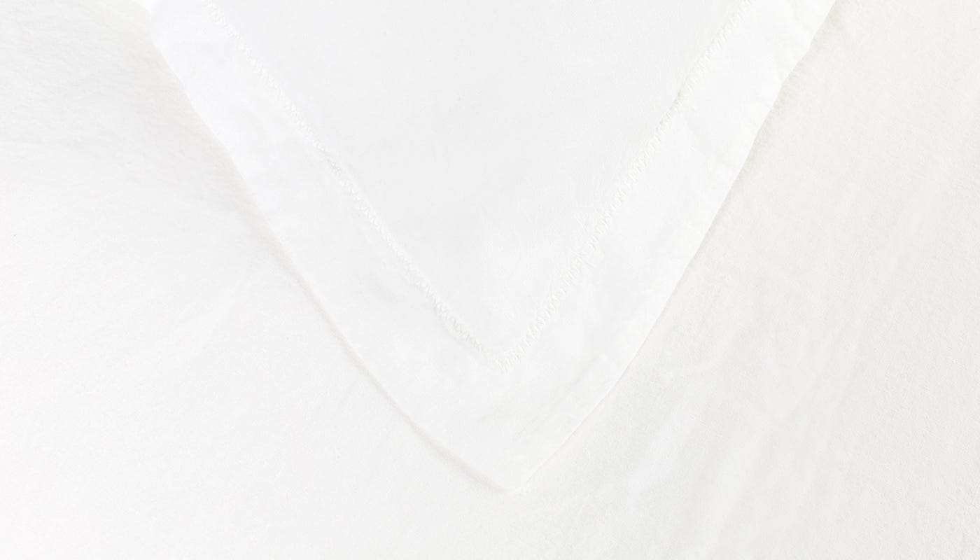 Heal's Washed Linen White Double Fitted Sheet