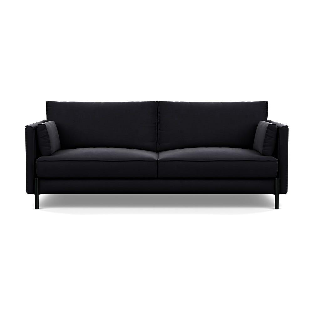 Heal's Tortona 3 Seater Sofa Velvet Black