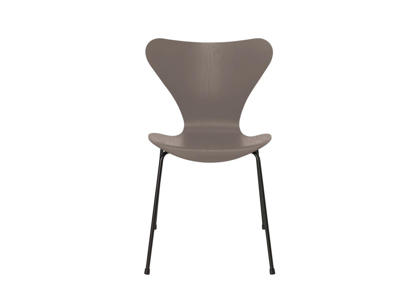 Fritz Hansen Series 7 Chair Coloured Ash Black Legs Deep Clay