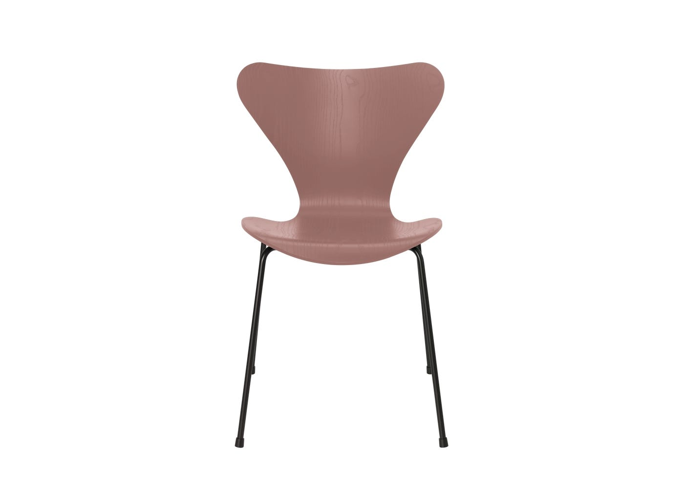 Fritz Hansen Series 7 Chair Coloured Ash Black Legs Wild Rose