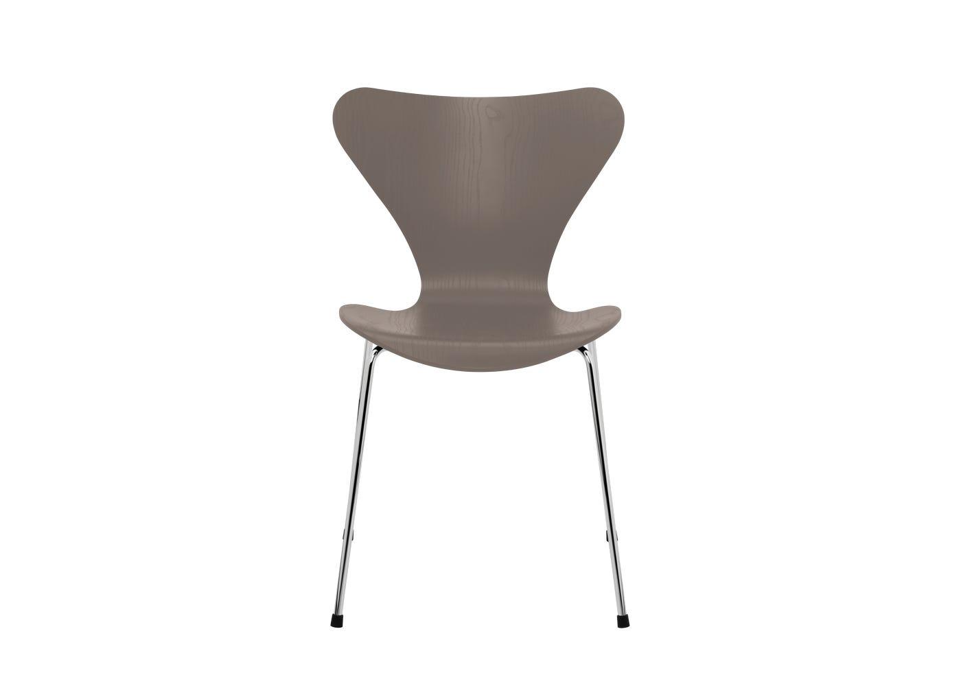 Fritz Hansen Series 7 Chair Coloured Ash Chrome Legs Deep Clay