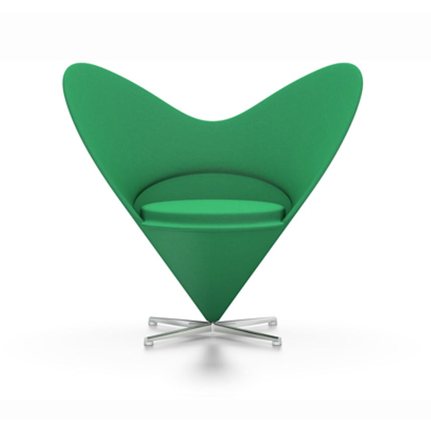 Vitra Heart Cone Chair Green