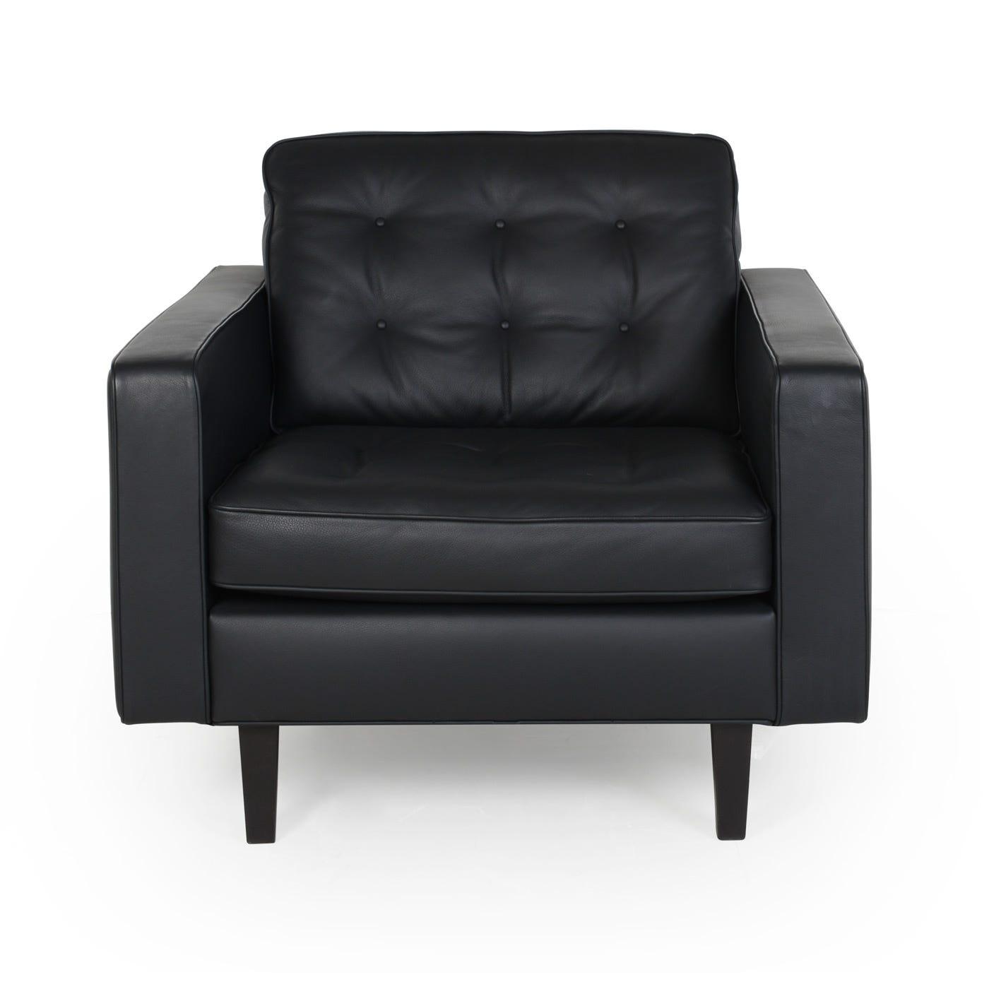 Heal's Hepburn Armchair Leather Grain White 000 Natural Feet