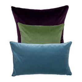 Heal's Velvet Cushion Rust 35 x 55cm