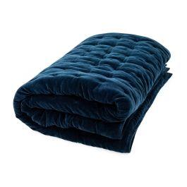 Heal's Velvet Quilt Midnight Blue 240 x 260cm