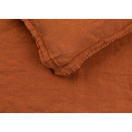 Heal's Washed Linen Cinnamon Fitted Sheet Super King