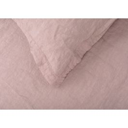 Heal's Washed Linen Dusky Pink Fitted Sheet Super King