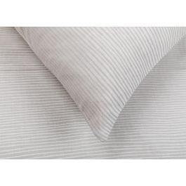 Heal's Reversible Stripe Standard Pillowcase Grey