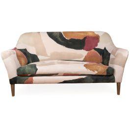 Heal's Wallis 3 Seater Sofa Smart Luxe Velvet Aura Print Tinted Ash Feet