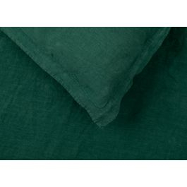 Heal's Washed Linen Forest Green Oxford Pillowcase