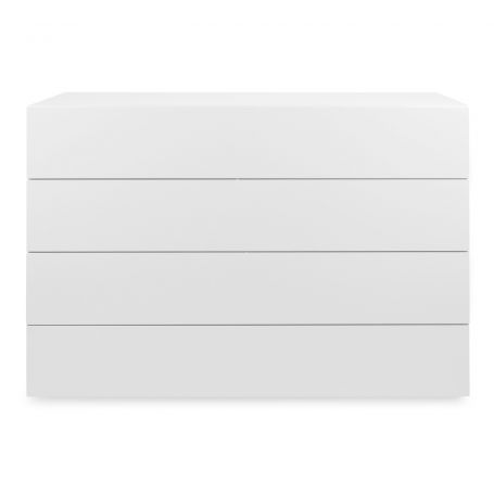 Space 4-Drawer Wide Chest White