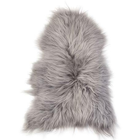 Icelandic Sheepskin Rug Silver Grey