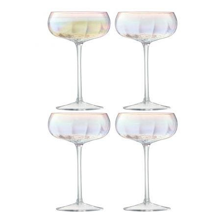 Pearl Champagne Saucer Set Of 4