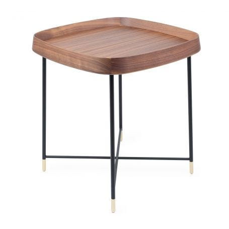 Fritz 4 Square Side Table Walnut