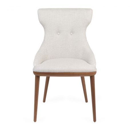 Andy Chair Walnut Var. A 03 - Front View