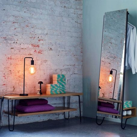 Brunel Lean Mirror With Hanging Space