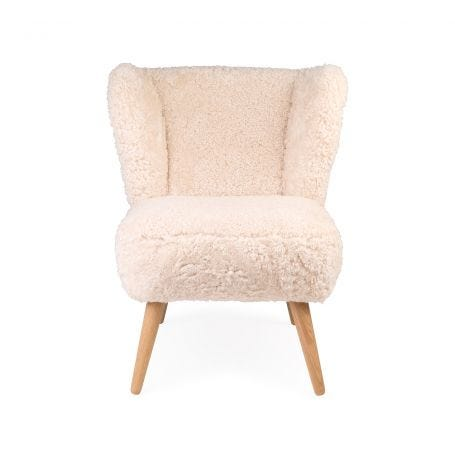 Ziggy Chair Clotted Cream Sheepskin Oak Legs