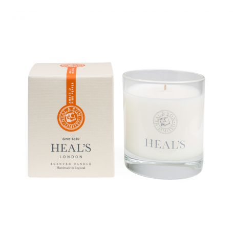 Amber & Pink Pepper Scented Glass Candle
