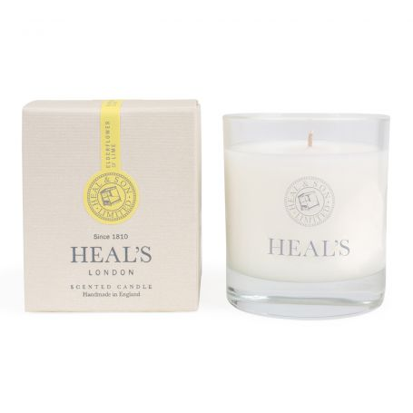 Elderflower & Lime Scented Glass Candle