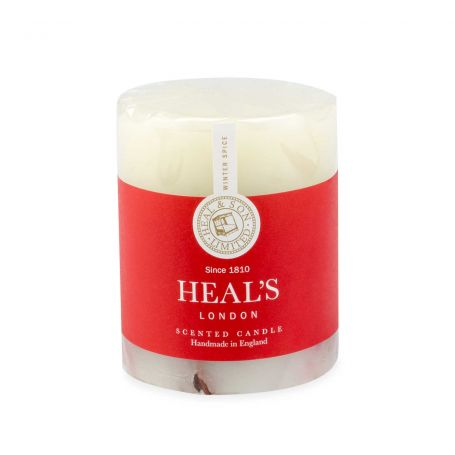 Winter Spice Short Pillar Candle With Botanicals