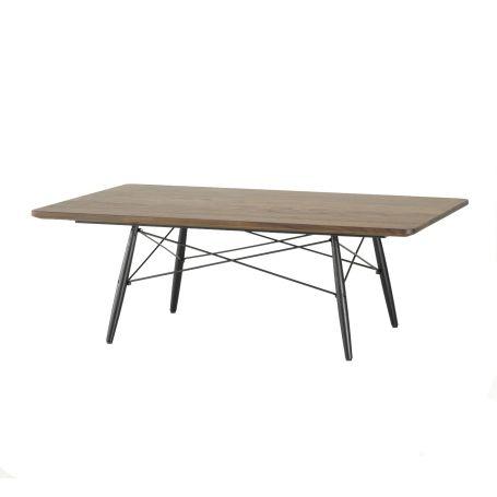 Eames Rectangular Coffee Table Black Ash Base