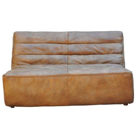 Shabby 2 Seater Sofa Savage Leather