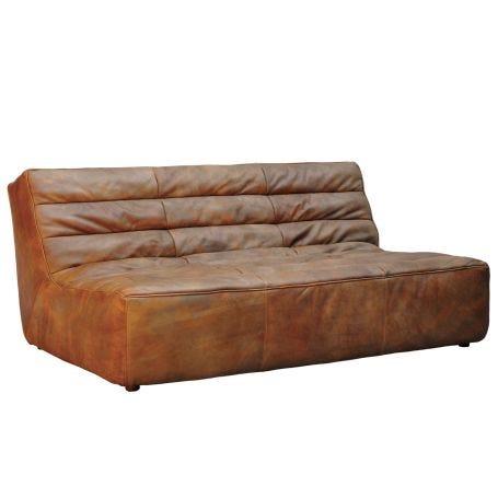 Shabby 3 Seater Sofa Savage Leather