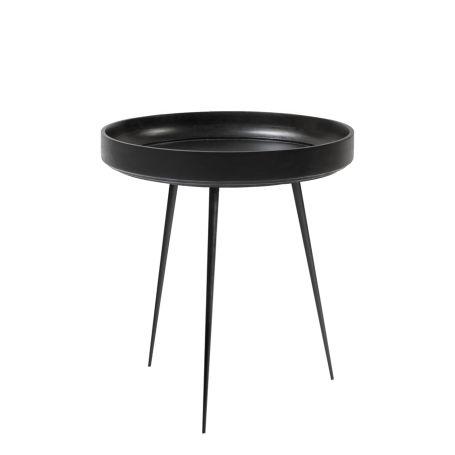 Bowl Table Medium Black Stained Mango Wood