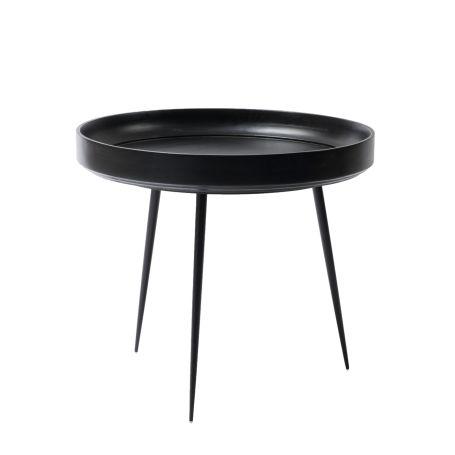 Bowl Table Large Black Stained Mango Wood