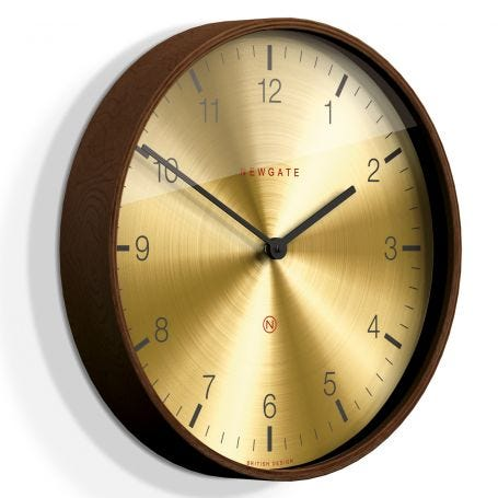 Mr Clarke Wall Clock Brass Large