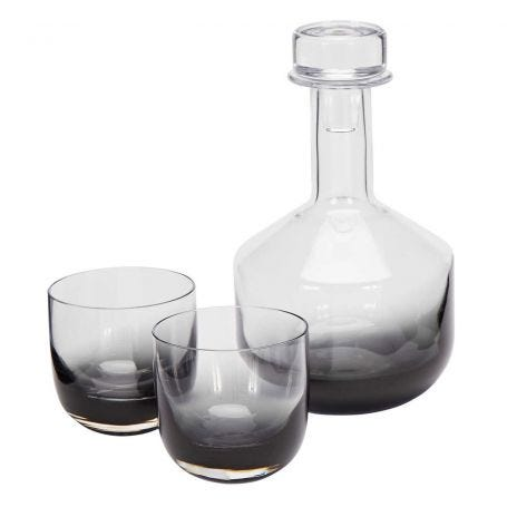 Tank Whiskey Glass Set of 2 Black