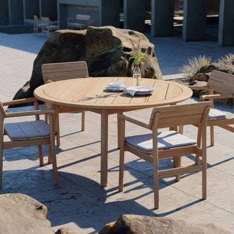 Tanso Teak Garden Round Dining Table