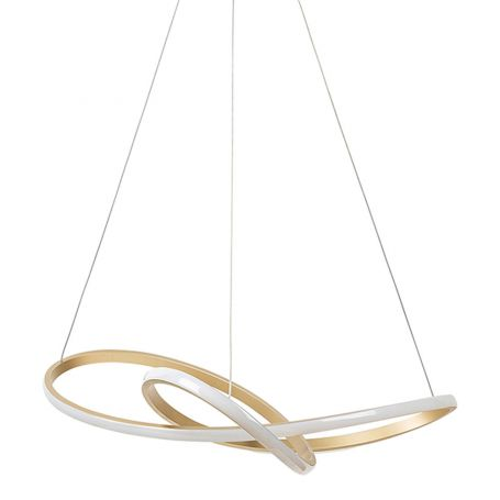 As Shown: Ribbon LED Pendant in Gold Off