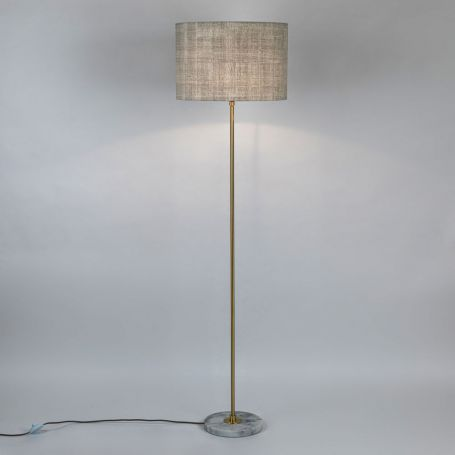 Simple Stick Floor Lamp Base Only White Marble