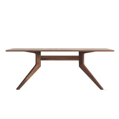 Cross Fixed Dining Table Walnut