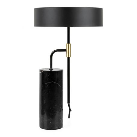 Counterpoise Table Lamp Black Marble
